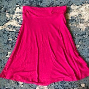 Pink Flowing Skirt